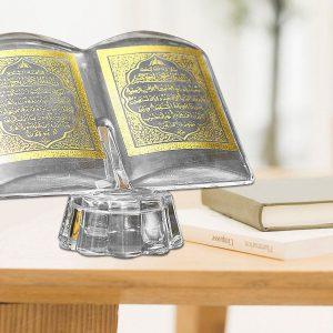 Islam Deko Koran Ramadan Quran Ayet Dekoration Islam Figur Allah LED Kristall