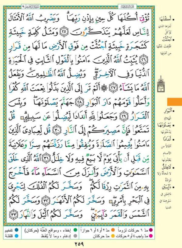 Koran arabisch deutsch tafsir tajwed