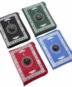 gebetsteppich Islamische Gebet Teppich Tragetasche Islam Mekka Kompass Salat Neu