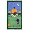 Moschee Kinderteppich Grün Gebetsmatte fuer Kinder Namaz Teppich islamischer Gebetsteppich 50 x 90 cm Muslim Kind