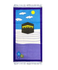 Kinder Gebetsteppich Kaaba Marine