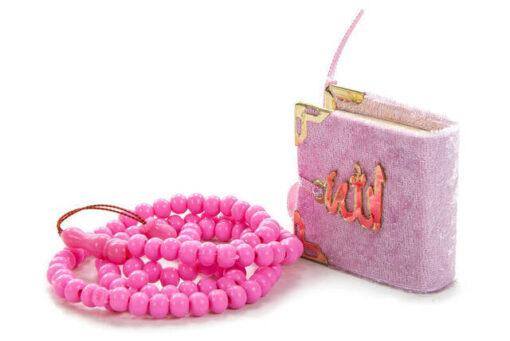Mini Koran & 99 Gebetskette Geschenkbox Mini Koran tasbih rosa