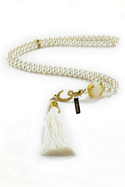 Gebetskette 99 Perlen - Lila Tasbih gebetskette weiss