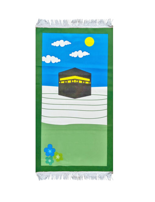 Kinder Gebetsteppich Kaaba Grün kinder gebedskleed 2