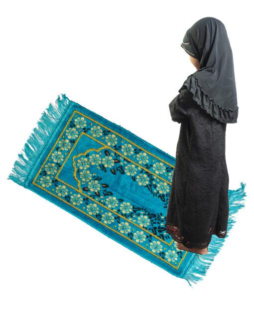 Gebetsmatte für Kinder Türkis kindergebetsteppich scaled
