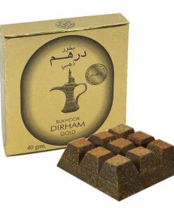 Bukhoor Dirham gold